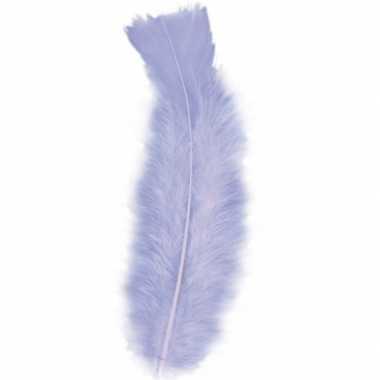 100x paarse veren/sierveertjes decoratie/hobbymateriaal