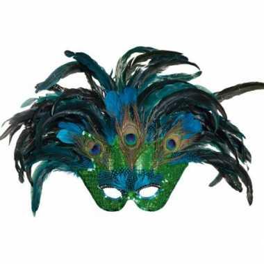 Pauwenveren maskertje