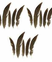 15x goudfazant veren 13 cm